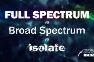 Full Spectrum CBD vs Broad Spectrum vs Isolate